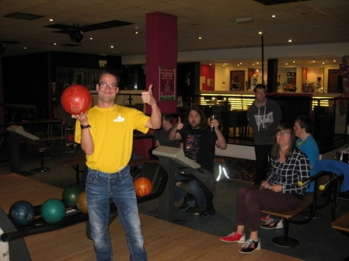 Chris getting ready for a strike!