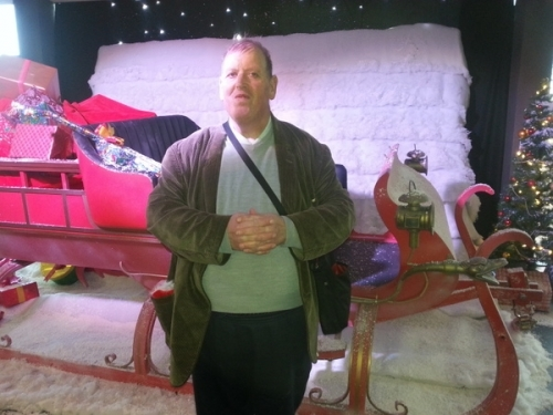 Brian with a Christmas sleigh