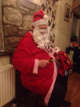 An after dinner visit from Father Christmas!