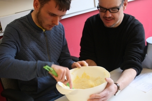 The groups learn key skills such as food hygiene through practical activities.