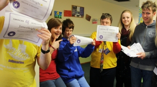 Each Compass cohort receive certificates at the end of each term- here are our first receiving theirs!
