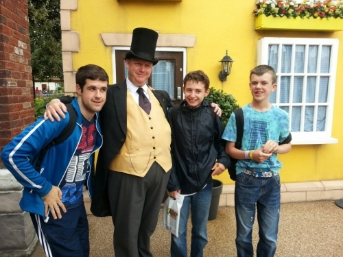 The fat controller in Thomas Land