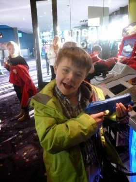 Matthew at the arcades
