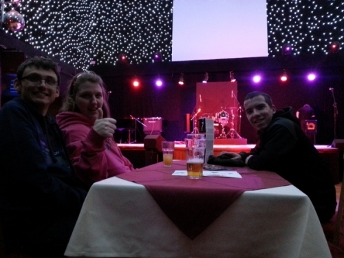 The gang @ The Sands Venue awaiting a band.