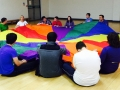 Relaxing parachute games to round off the day